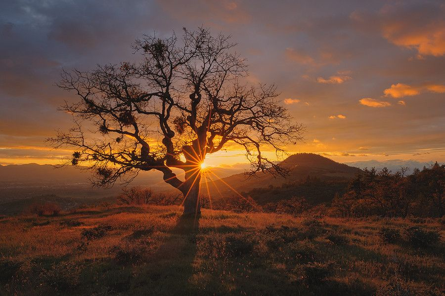 """Puesta de sol """"Rogue Valley Sunset"""", en Oregón, Estados Unidos. Fotografiado por Deb Harder, vía 500px.com."""