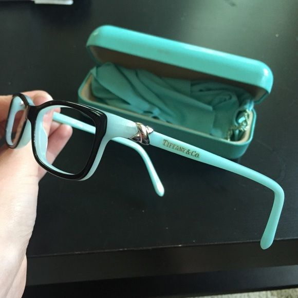 ffcf34e44c1 Tiffany   Co eyeglasses TF2036 Beautiful Tiffany and Co eyeglasses! Style  TF2036 Black with blue on the inside. These do not include prescription  lenses.