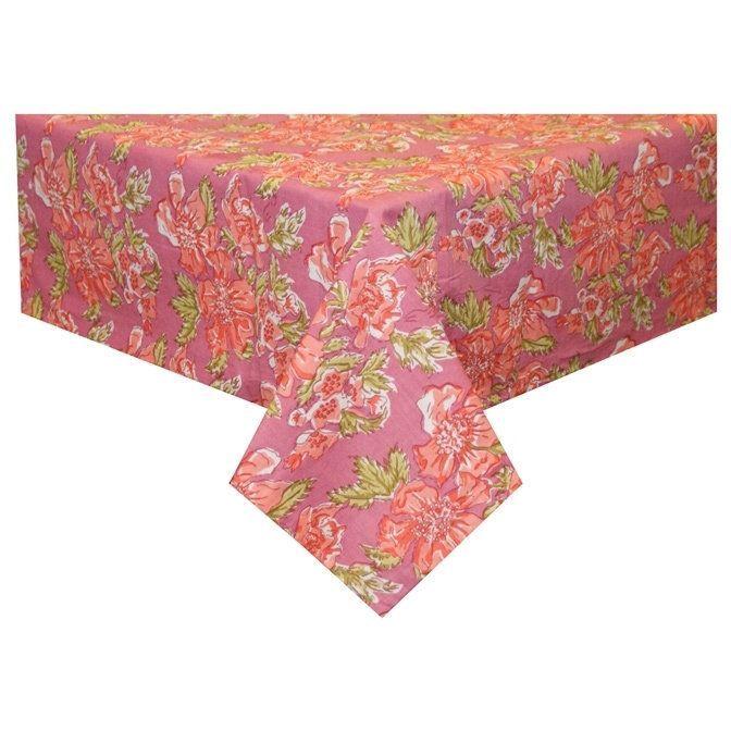 divine designs handmade pink floral tablecloth india pink floral rh pinterest co uk