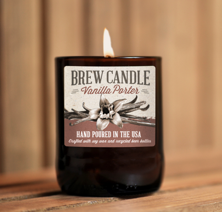 Vanilla #Porter Brew Candle by #Swagbrewery! Amazing idea #beer #craftbeer #porter #home #living #brewing