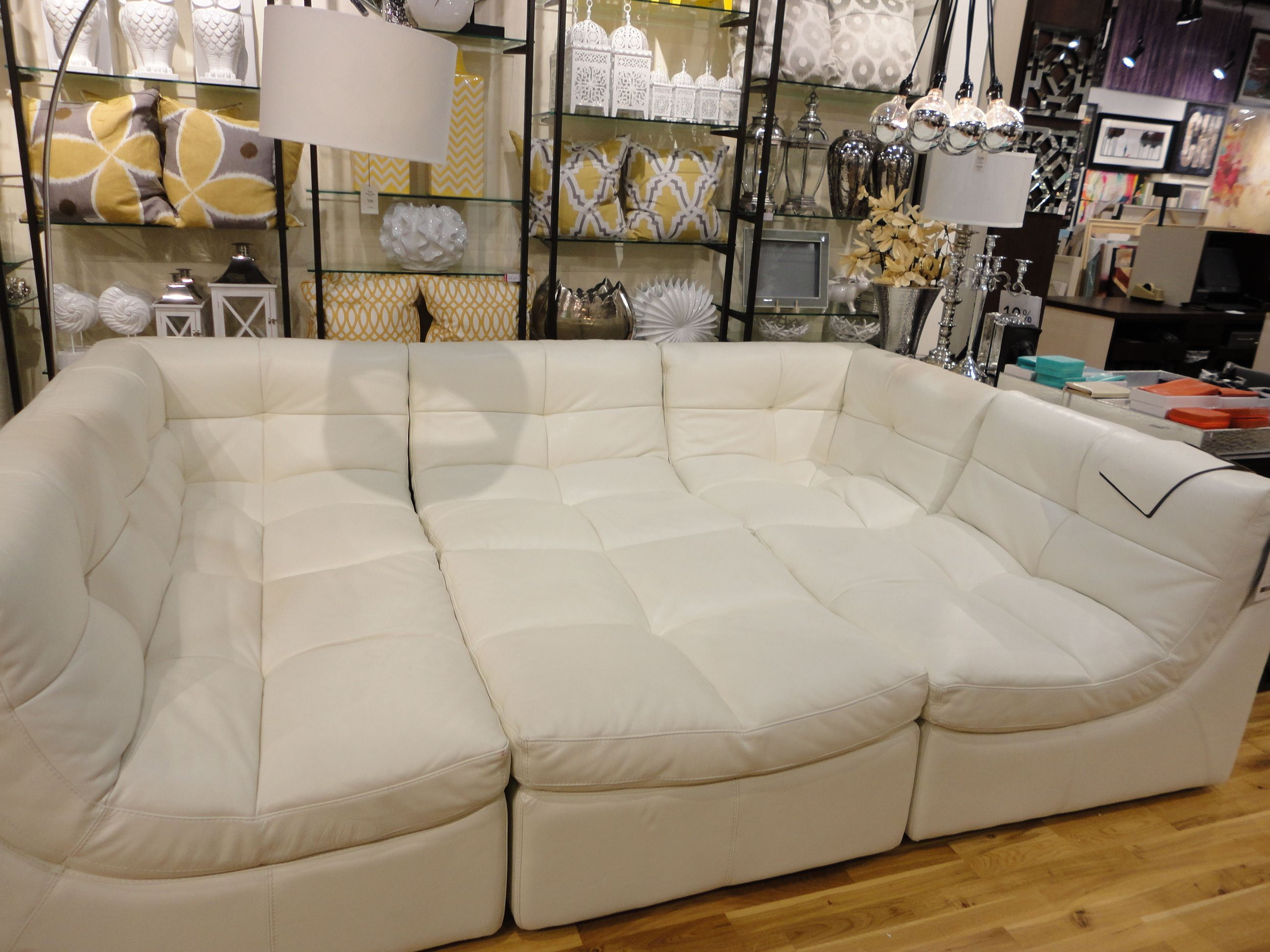 This couch is super cool. Looks like a bed, but those are all small