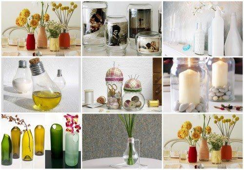 Manualidades con Botellas de Vidrio Reciclaje reciclandoo