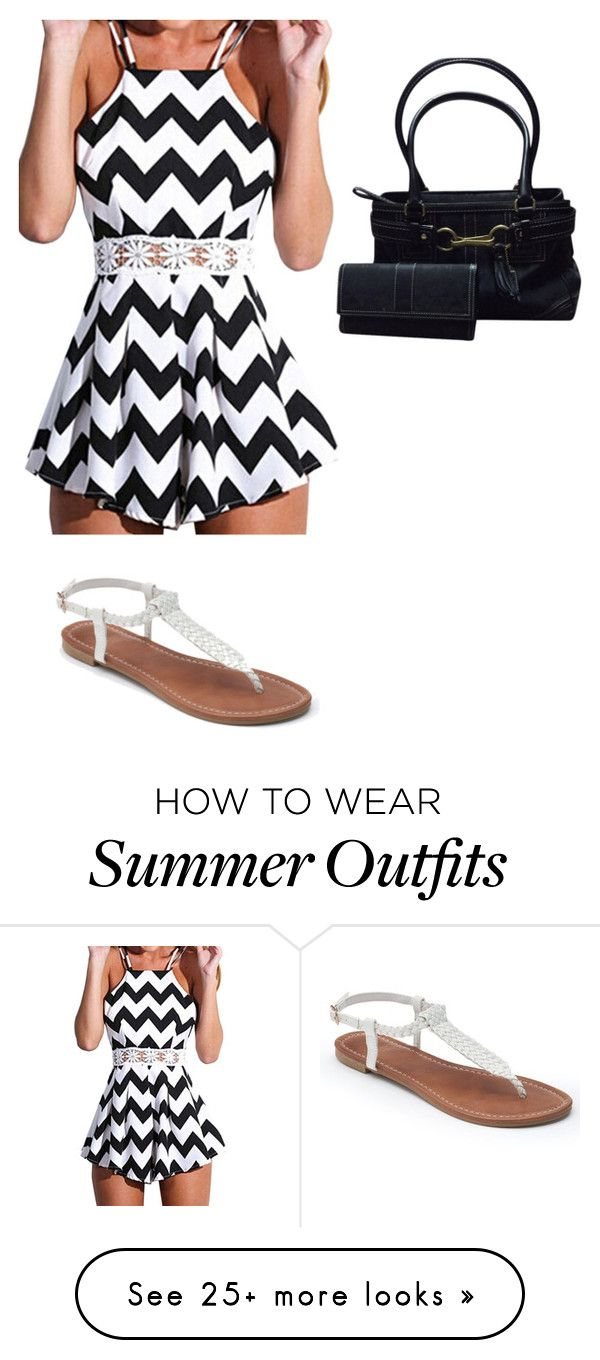 """""""Summer outfit 8 cute buy comfy"""" by latina2003 on Polyvore featuring Coach and Apt. 9"""