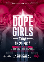 Dope Girls Night Party | Psd Flyer Template by RomeCreation