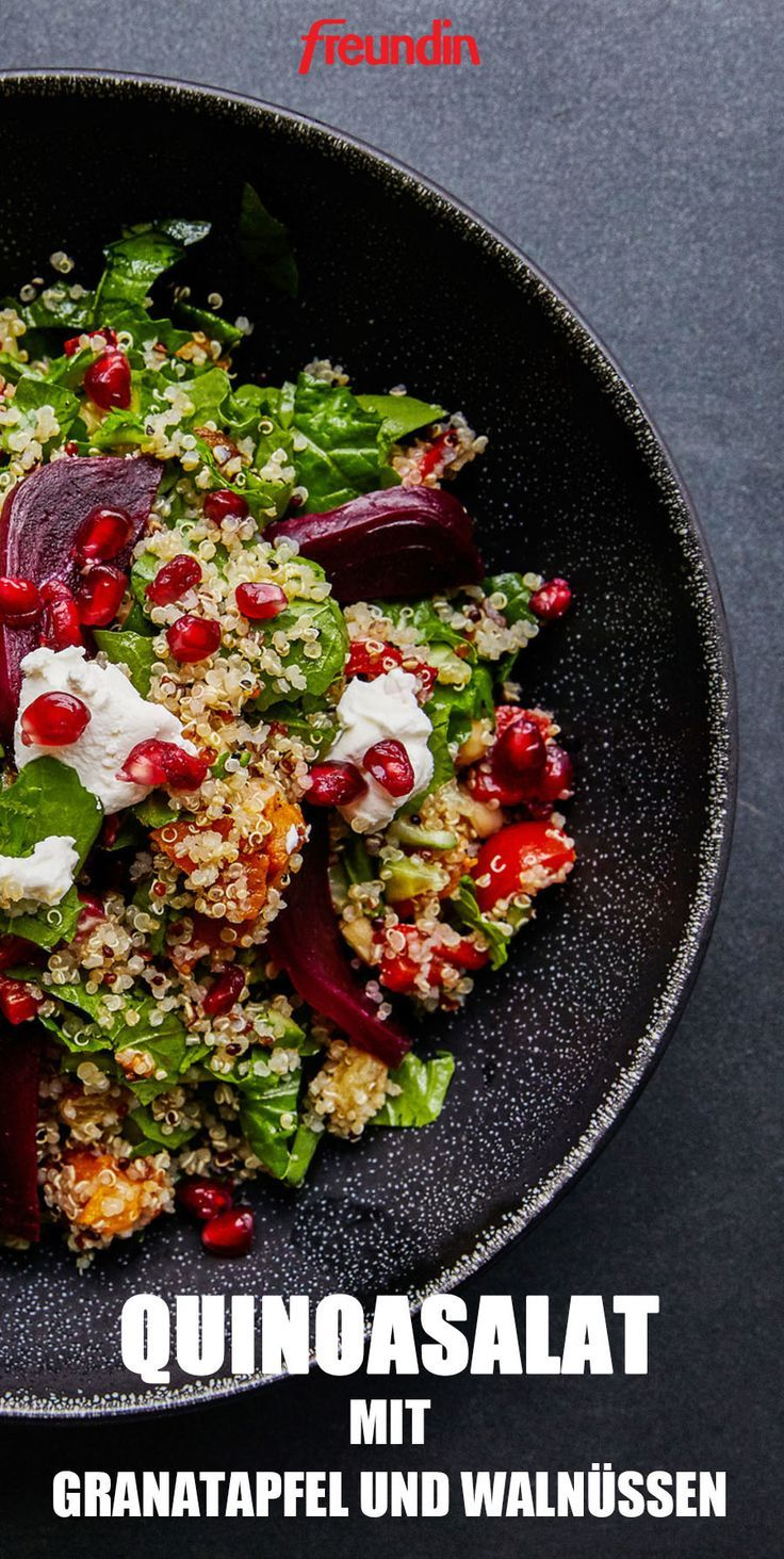 Photo of Light cuisine: quinoa salad with pomegranate and walnuts | freundin.de