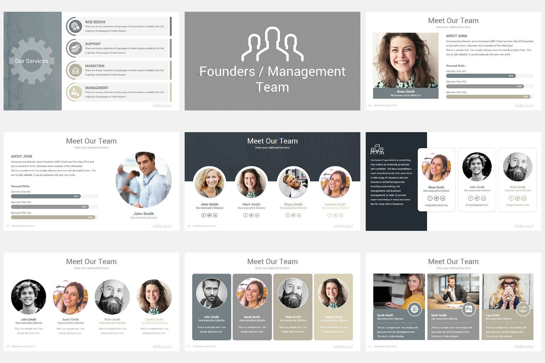 Modern Company Profile PowerPoint tonsfreevectoredit
