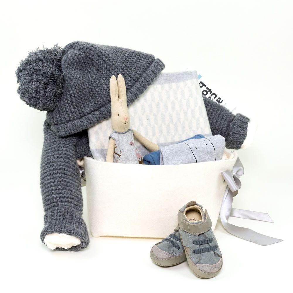 Fluffy baby boy gift baskets unique baby boy gifts