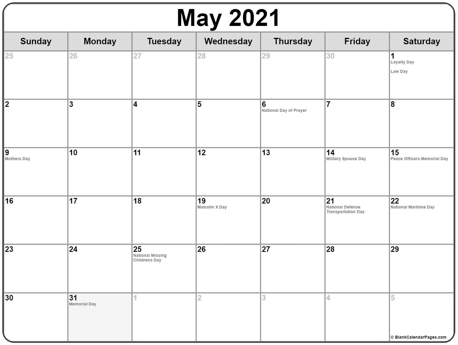Us Calendar Holidays 2021   Holiday calendar, Calendar ...