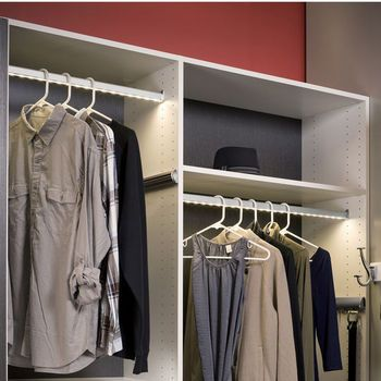 Cabinet Lighting Hafele Loox 12v Led Closet Wardrobe Clothes Rail Kitchensource Com Led Closet Light Closet Lighting Closet Organizing Systems