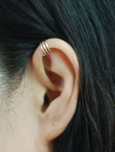 Ohrclips - 3-Band-Silber-Ohrstulpe-Ober Ohr-Stulpe- - ein Designerstück von TakeOnMe7 bei DaWanda