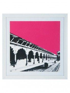 Taj Mahal Corridor Fuchsia Walk Limited Edition Framed Serigraphy Print