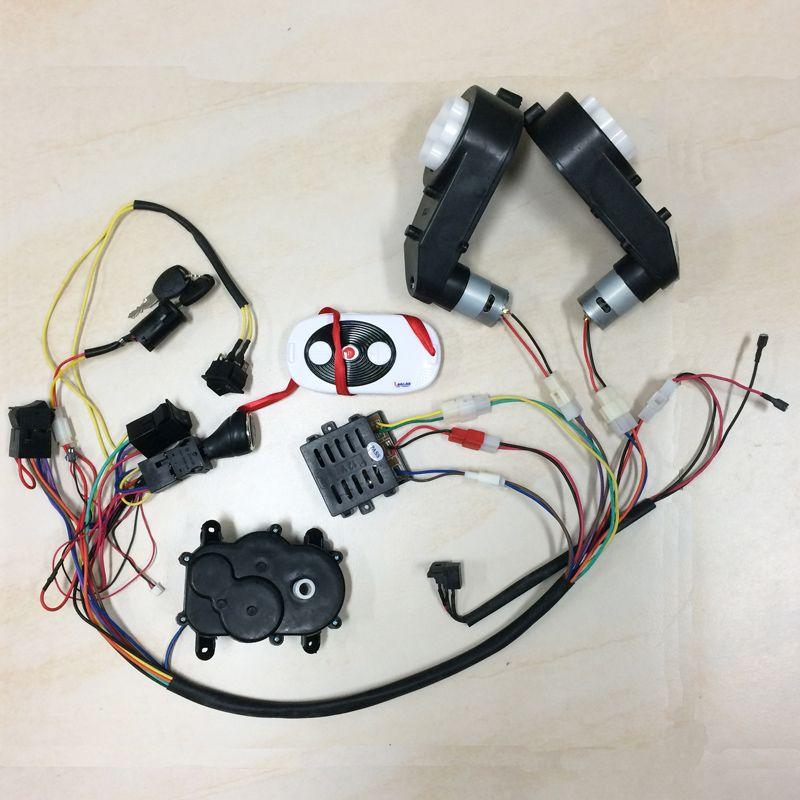 Kinder elektrische auto DIY zubehör drähte und getriebe ...