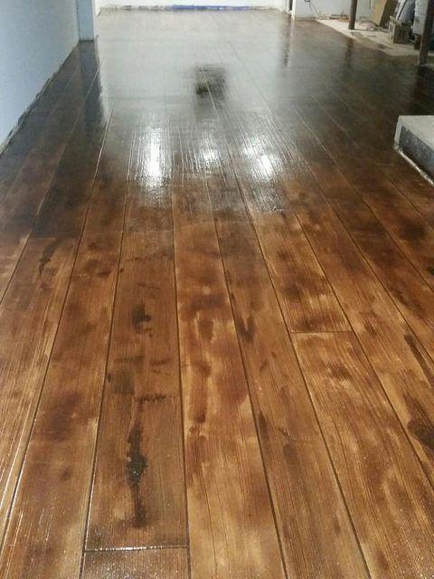 Diy Concrete Flooring Makeover: Rustic Concrete Wood Huntsville AL