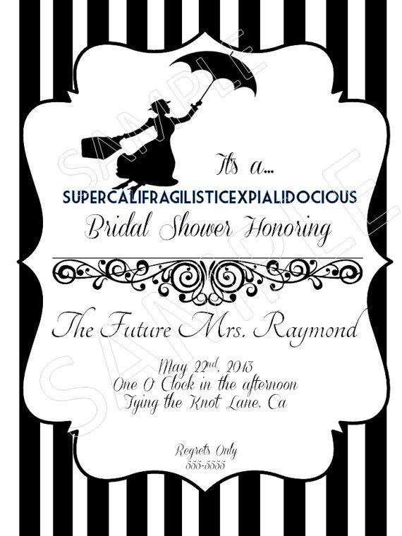 Mary Poppins Bridal Shower Invitation by