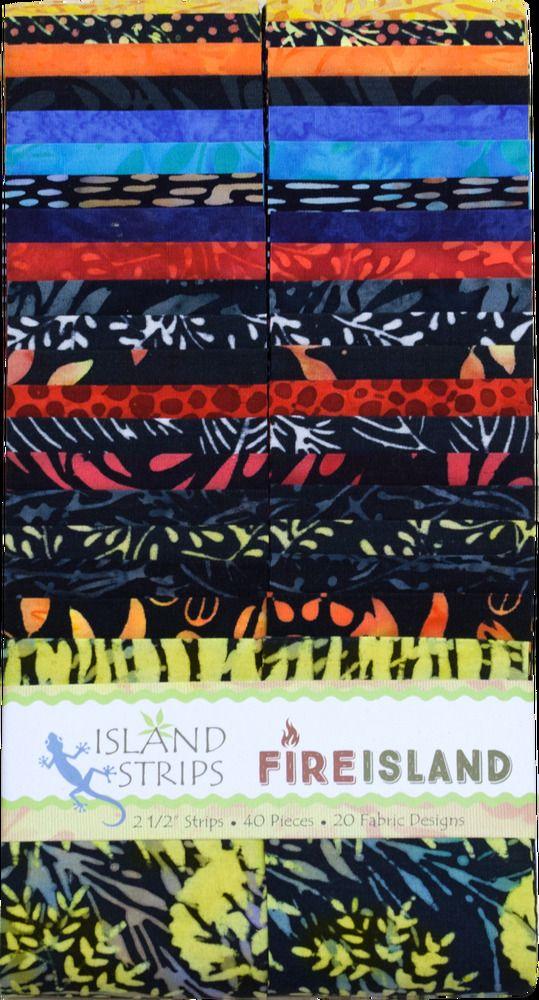 "Island Batik Dotalicious Fire Strip Pack//Jelly Roll 40 2.5/"" Strips"