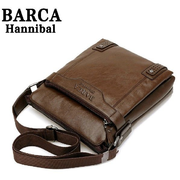 New 2014 New Style Genuine Leather Men Messenger Bags Shoulder Bags BARCA  Hannibal Handbags Men Travel Bags 5b0a88f173f13