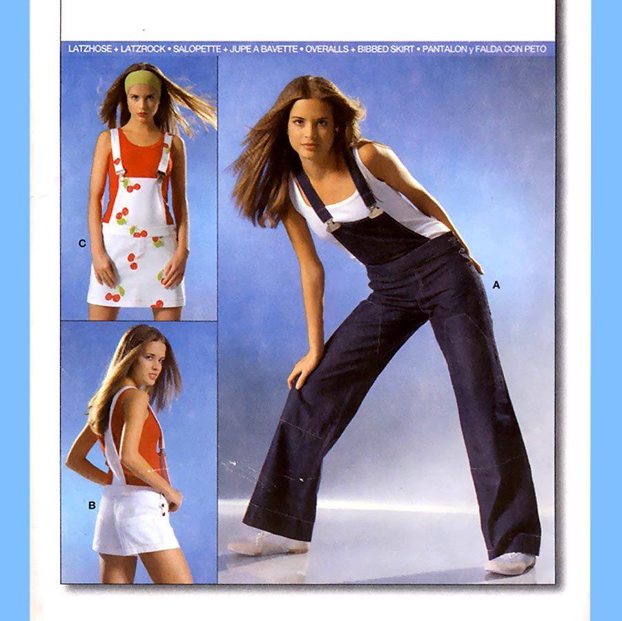 885 Burda 8179 Womens Bib Overalls, Bib Shorts, Bib Skirt size 6 8 ...