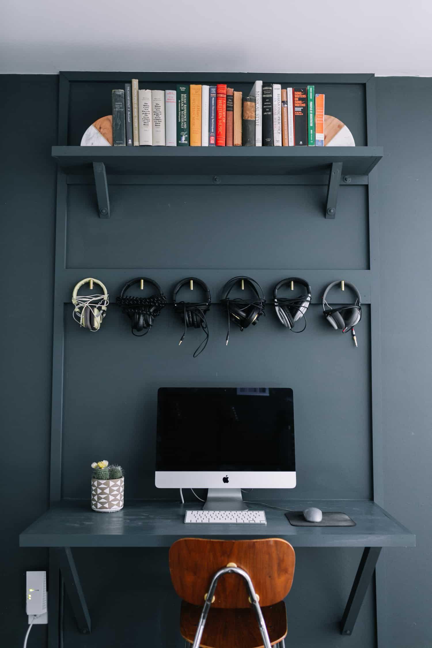Fabriquer Un Bureau De Travail built-in computer desk diy | refaire bureau, comment décorer