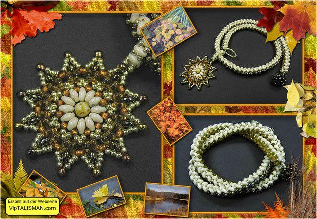 *_UNIKAT_*  Außergewöhnliches Collier gefertigt aus hochwertigen japanischen Toho-Rocailles und Miyuki-Tropfen sowie böhmischen Supeduos. Der Knebelverschluß ist ebenfalls aus Perlen...