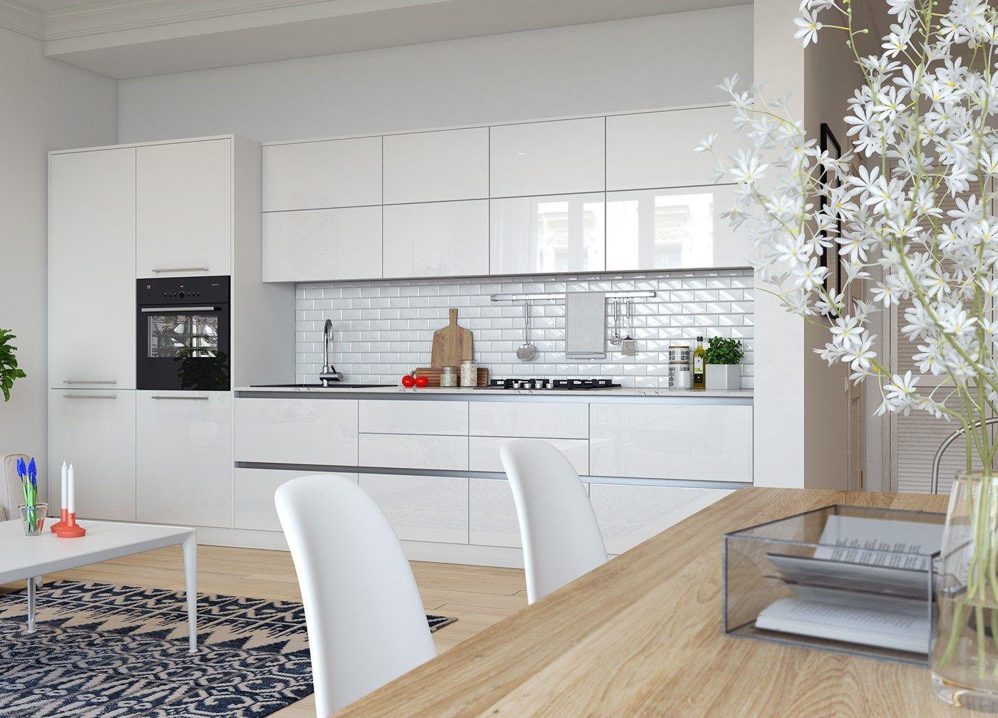 Decoración abierta | Decoracion pisos pequeños, Cocinas abiertas y ...