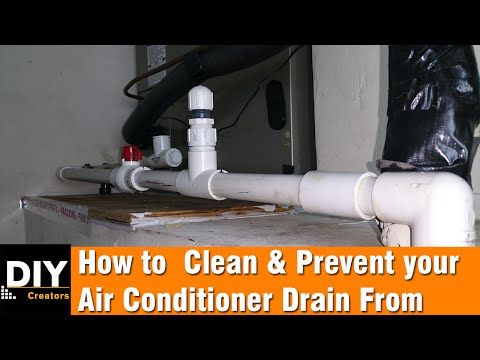 How To Clean And Prevent Your Air Conditioner Drain From Clogging Youtube Air Conditioner Clean Air Conditioner Diy Air Conditioner