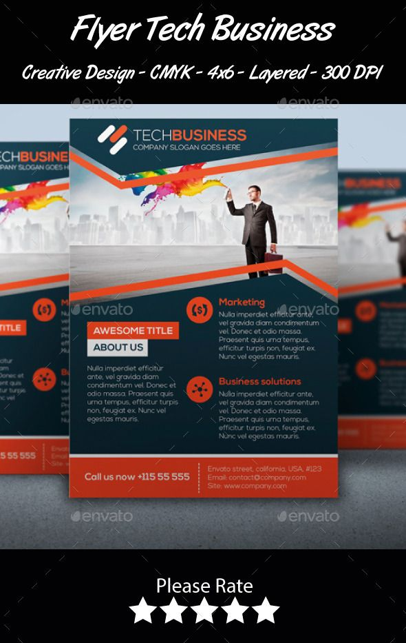 Flyer Tech Business  Flyer Template Leaflet Design And Business