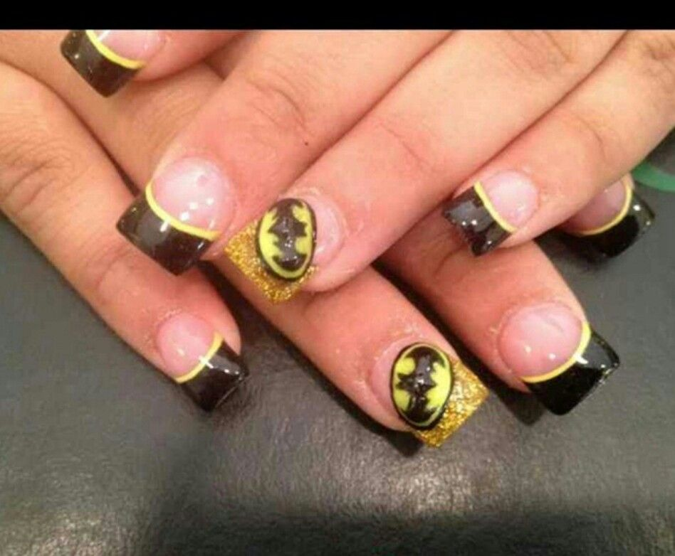 Batman will make my son even love my nails | nail ideas | Pinterest ...