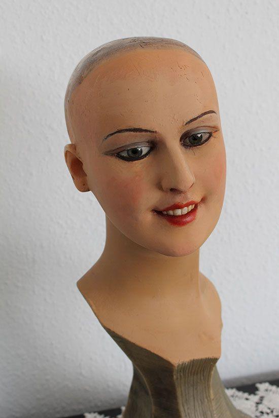 Wow Antique Wax Mannequin Bust Wax Head Glass Eyes 1900 S Store Display Antique Wax Vintage Mannequin Mannequins