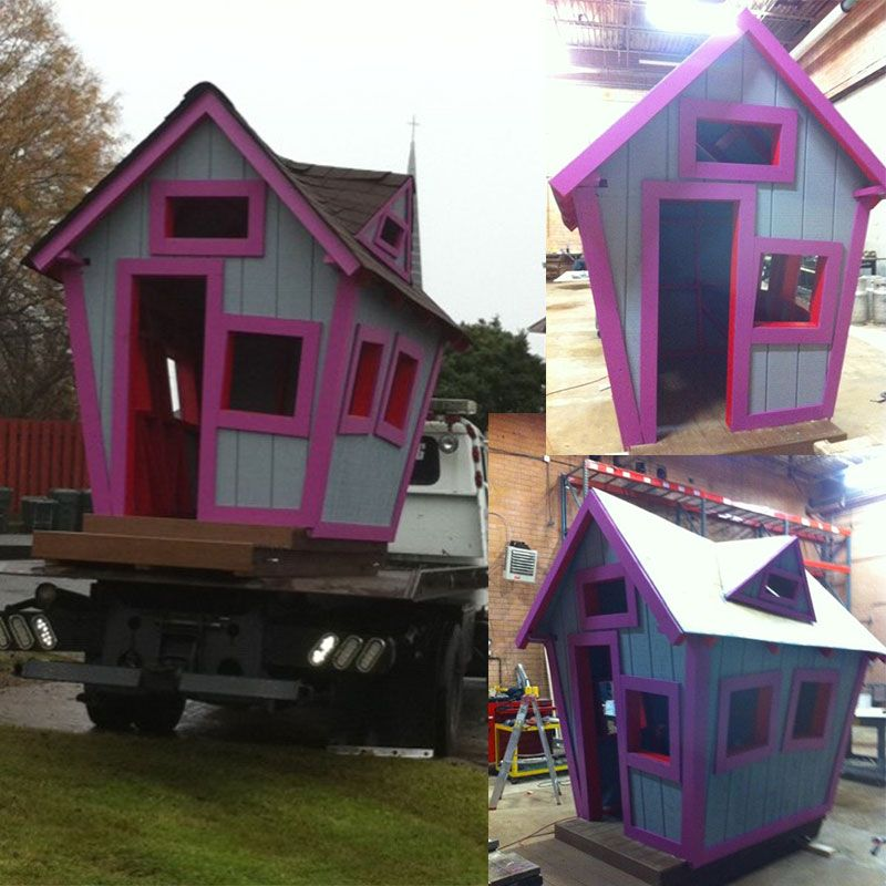 Crooked playhouse plans pinterest building costs for Cost to build a playhouse