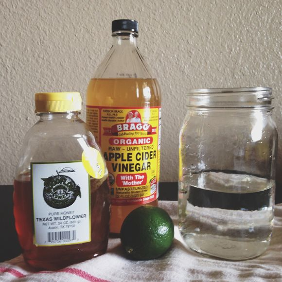 apple cider vinegar limeade... sub out the honey