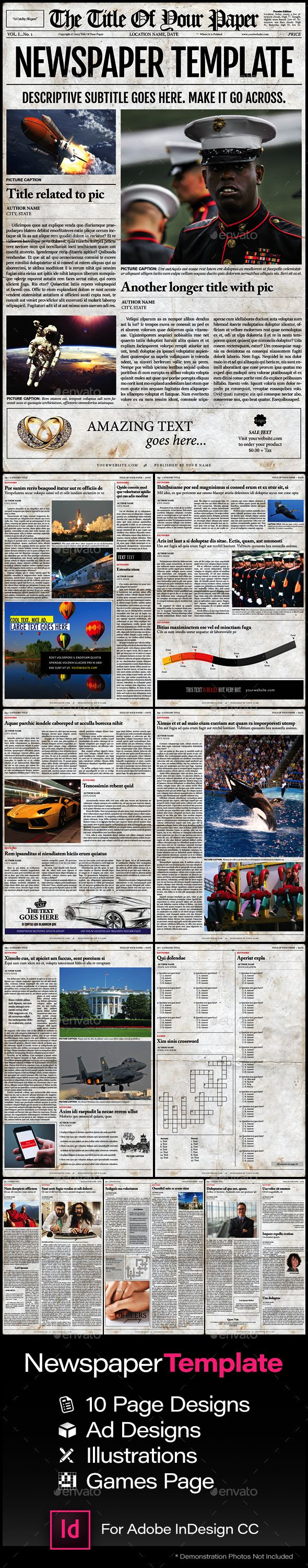 Old Style Newspaper Template Newsletters Print Templates Work