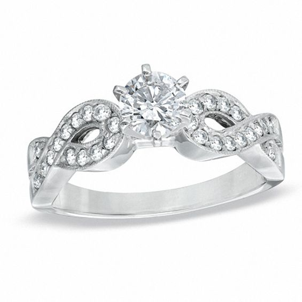 3/4 CT. T.W. Diamond Loose Braid Engagement Ring in 14K