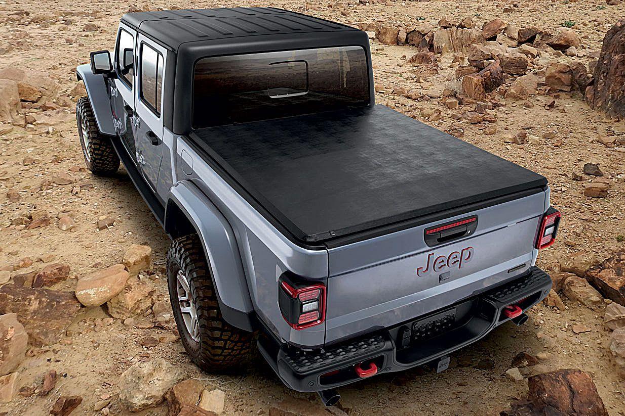 Mopar 82215615 Soft Fold Up Tonneau Bed Cover For 2020 Jeep