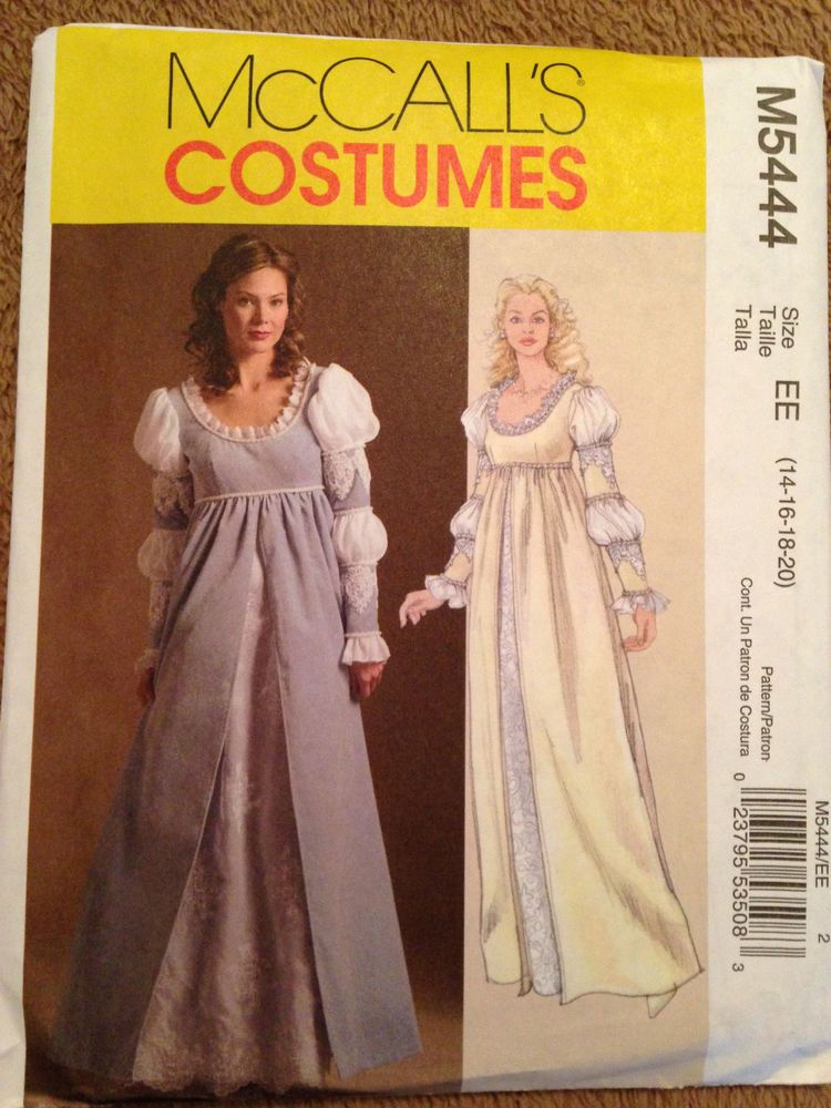 OOP M 5444 Medieval Renaissance dress gown costume pattern 14-20 NIP ...