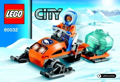 View Lego Instructions For Arctic Snowmobile Set Number 60032 To