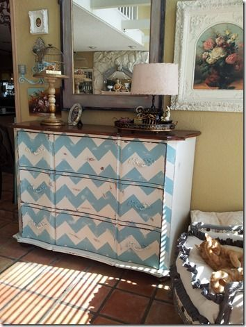chevron painted furniture. Chevron Painted Dresser-for Baby Room? Furniture