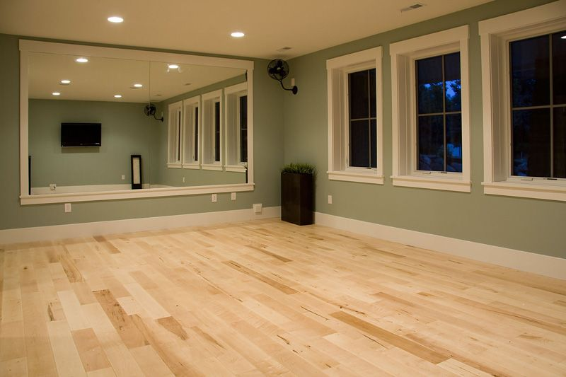 Nice Light Hardwood For A Workout Room Beautiful