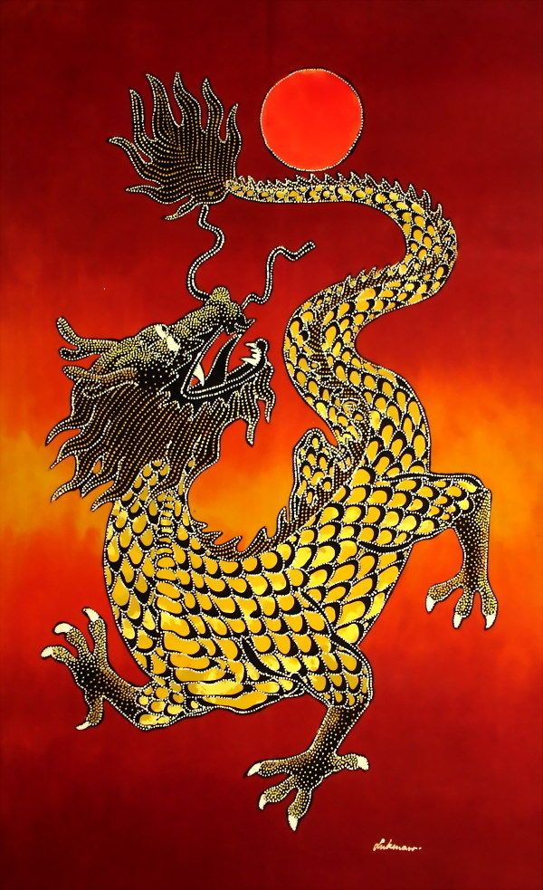 Dragon batik painting wall art batik painting wall decor w544 Please visit /  sc 1 st  Pinterest & Dragon batik painting wall art batik painting wall decor w544 ...