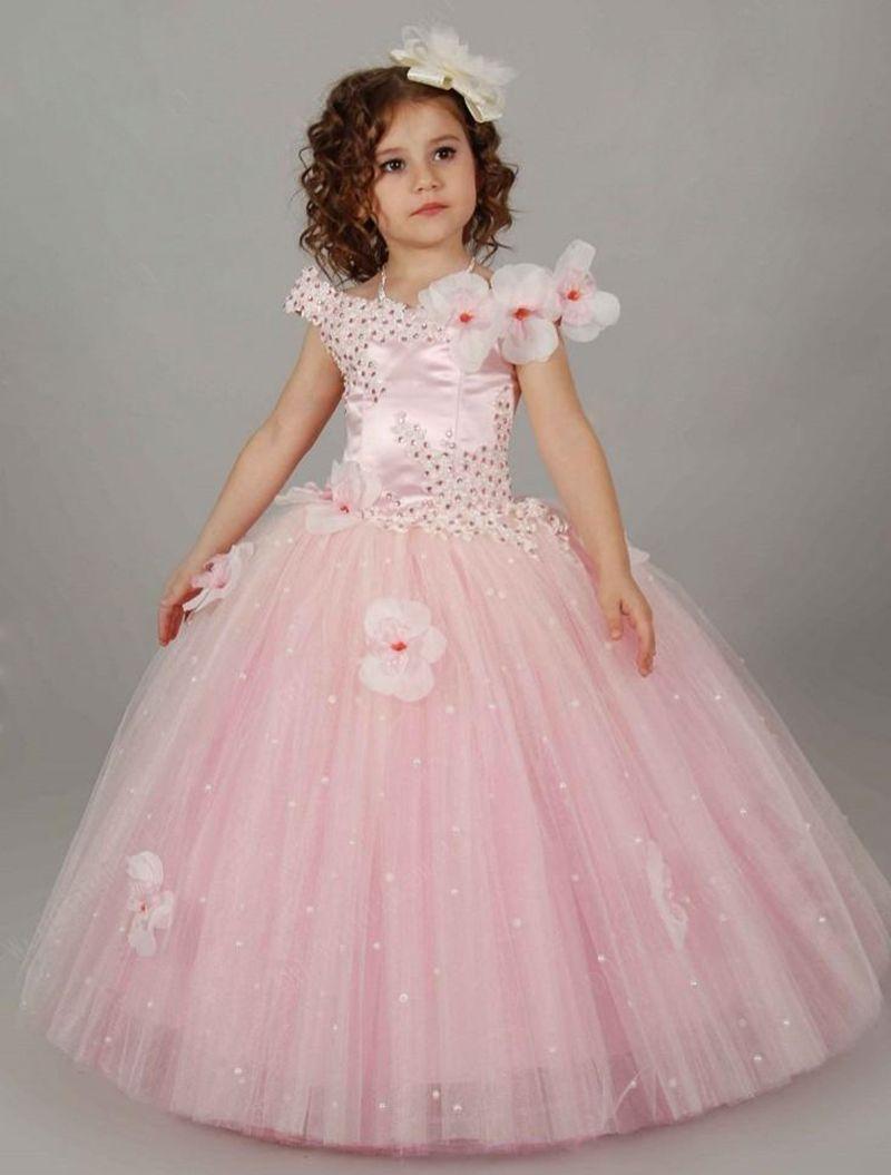 Cheap Palabra de longitud Puffy vestido de bola niño vestidos para ...