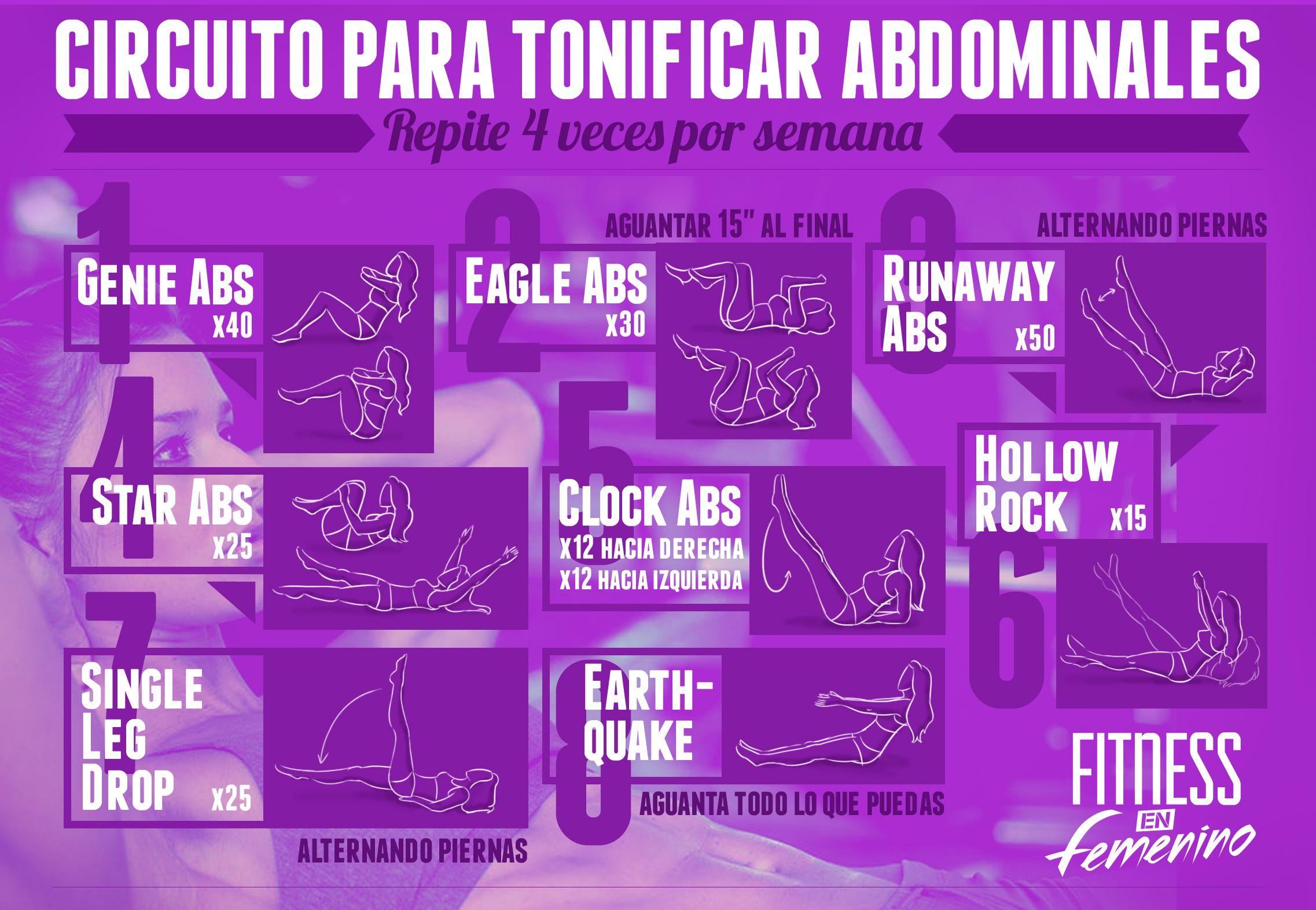 Pin De Giovanna Martinez En Rutinas Y Ejercicios Abdominales Circuito De Abdominales Fitness