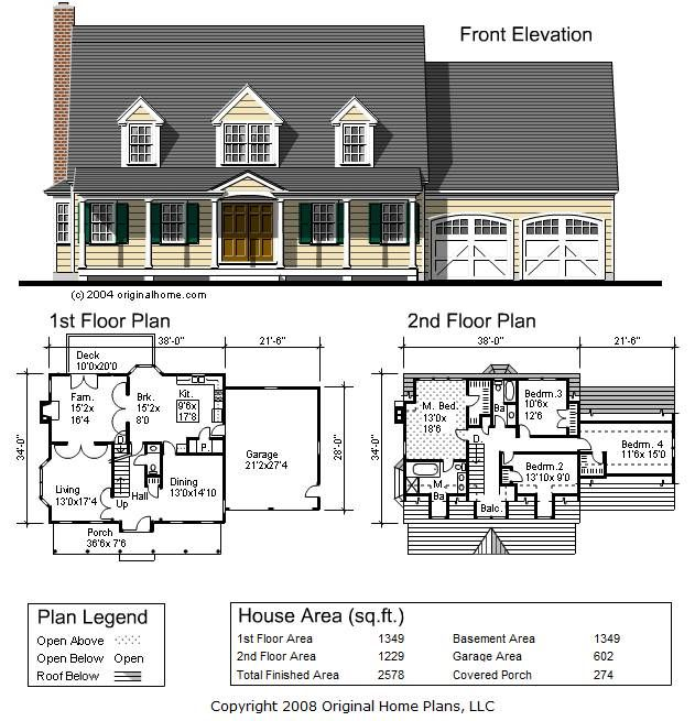 2500 Square Foot Cape Cod Designed To Fit An Orchard Setting Full Front Porch Modest Middle Cl Traditional House Plans Cape House Plans Country House Plans