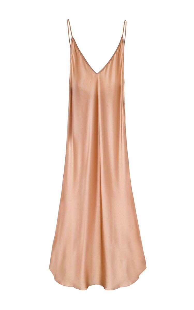 Carrie silk slip dress by sleeper for preorder on moda operandi
