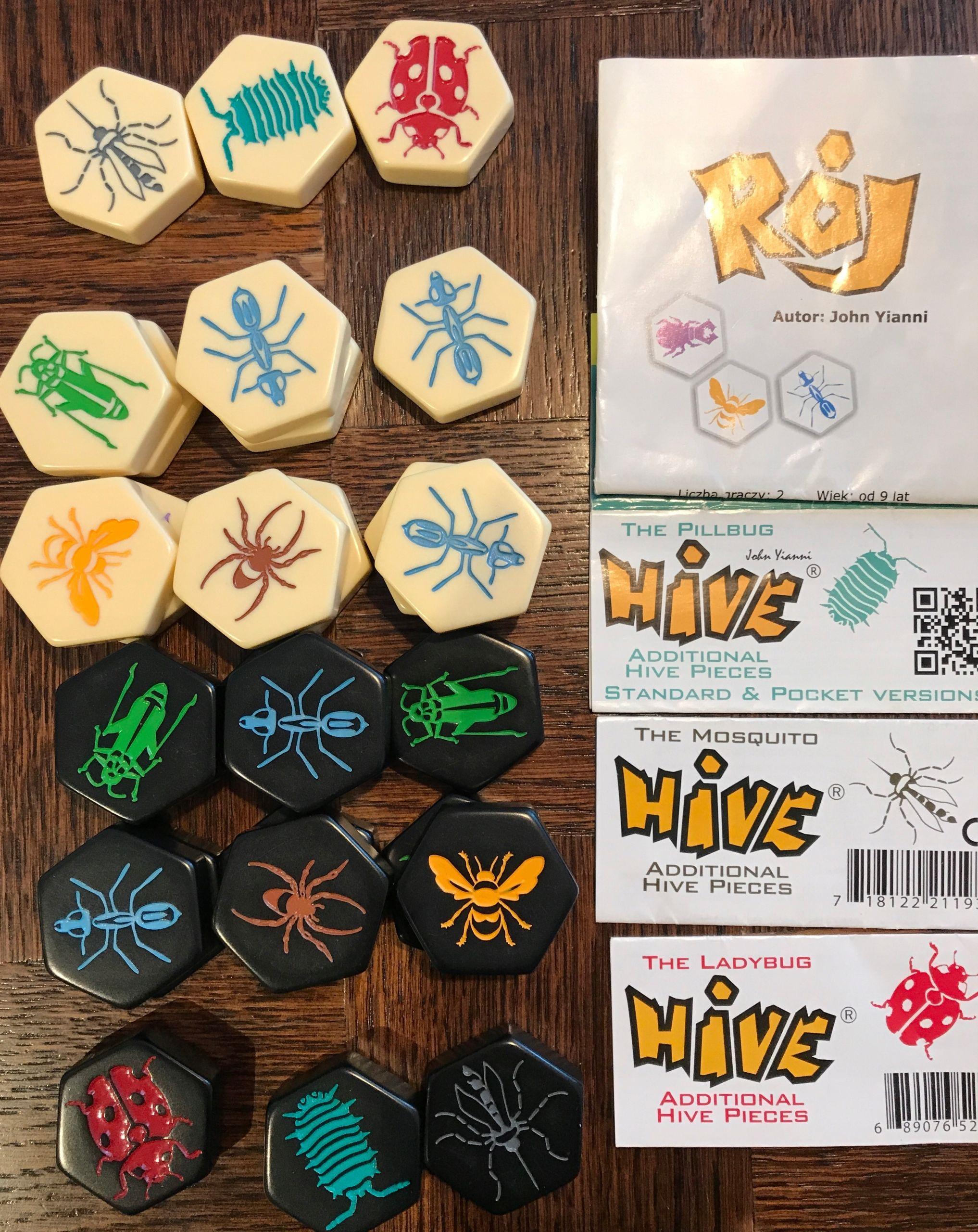 Roj Hive 3 Dodatki Gra Planszowa 7773989262 Oficjalne Archiwum Allegro Ladybug Mosquito Sugar Cookie