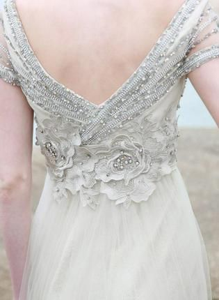 Embellished Tulle Overlay Gown