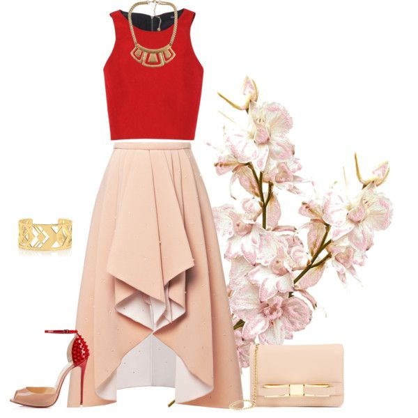 outfit 1060 by natalyag on Polyvore featuring polyvore, moda, style, TIBI, Rodarte, Christian Louboutin, Ted Baker and Tory Burch