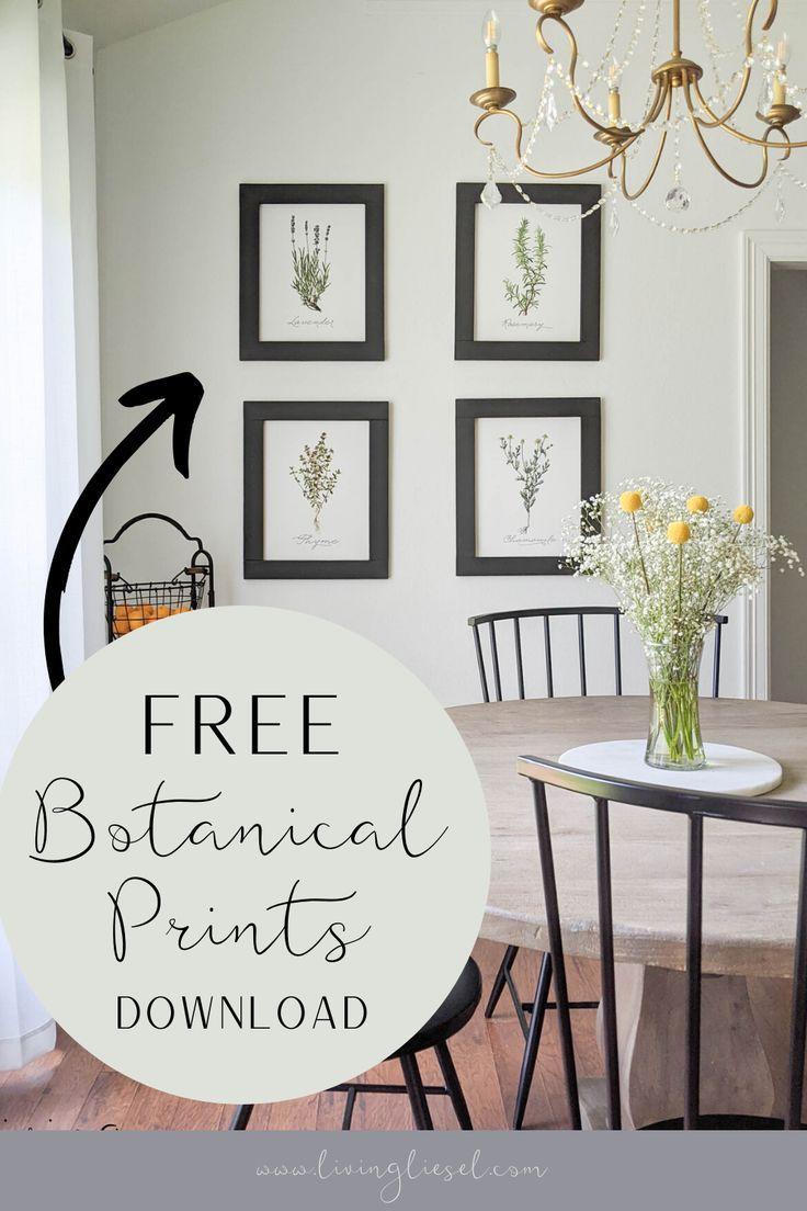 Botanical Printable Boho Farmhouse Dining Room Round Table DIY -   19 farmhouse decorations for kitchen table ideas