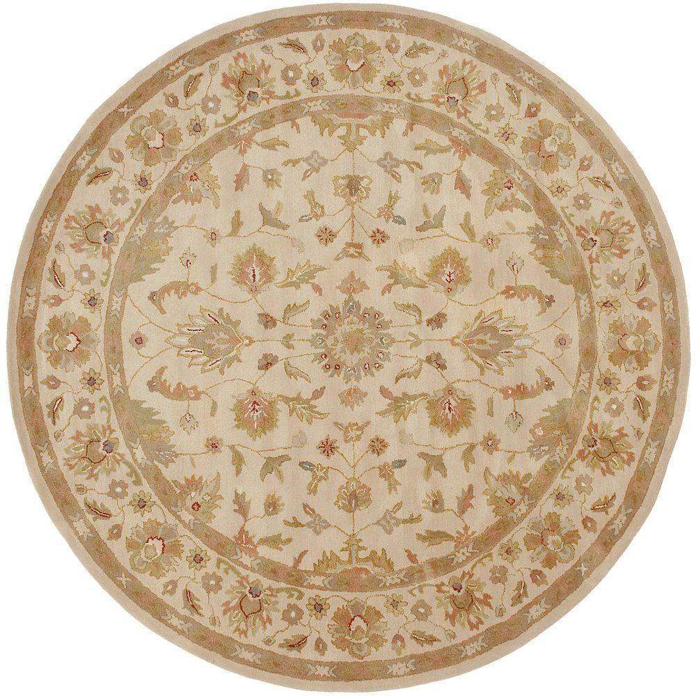 Artistic weavers gorham beige 8 ft round area rug round