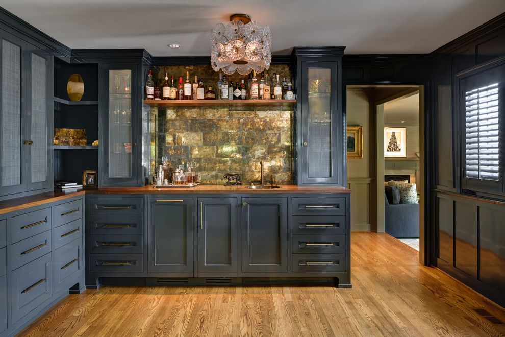 Wet Bar Cabinets Home Traditional With Dark Gray Corner
