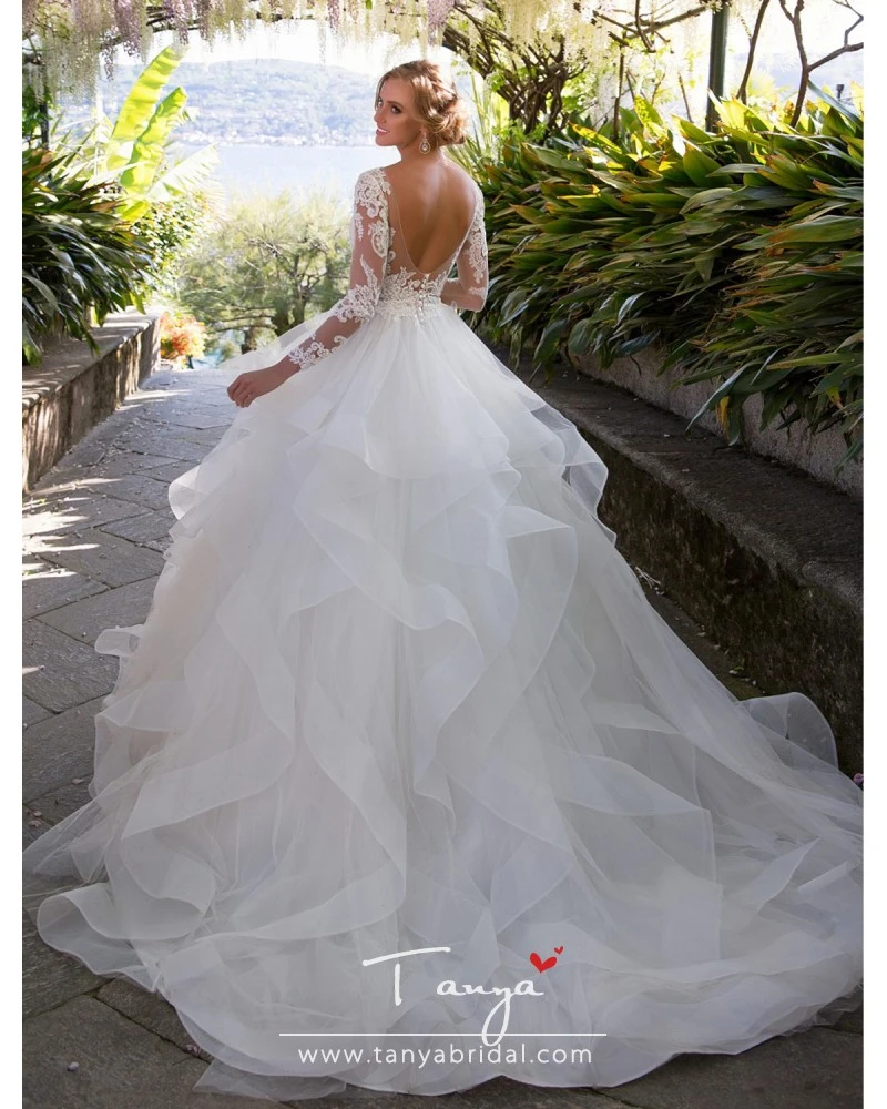 Vintage Lace Cap Sleeves Tulle Princess Wedding Dresses: Vintage Ball Gown Wedding Dresses Princess 2020 Long