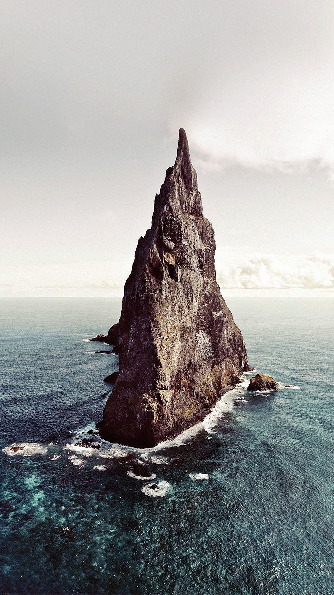 Wallpaper iphone sea - Island Of Lonely Papillon Sea Ocean Nature Iphone 6 Plus Wallpaper